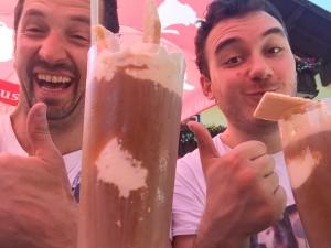 Eiskaffe-Pause